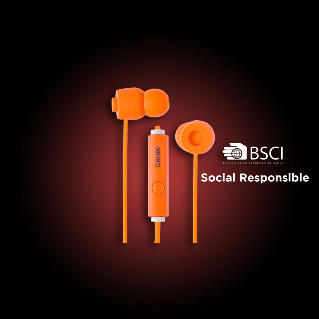 Grixx Orange In-Ear Headphones